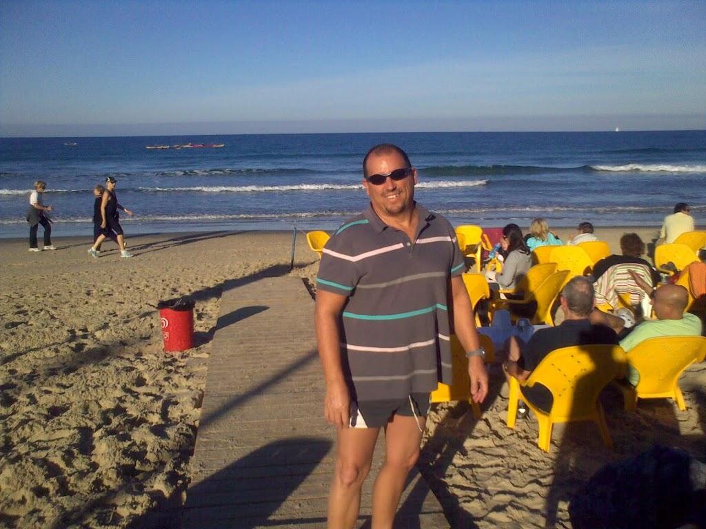 איש בחוף